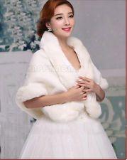 Bride Warm Thicken Shrug Stole Bolero Wedding Poncho Cape Coat Shawl Jacket