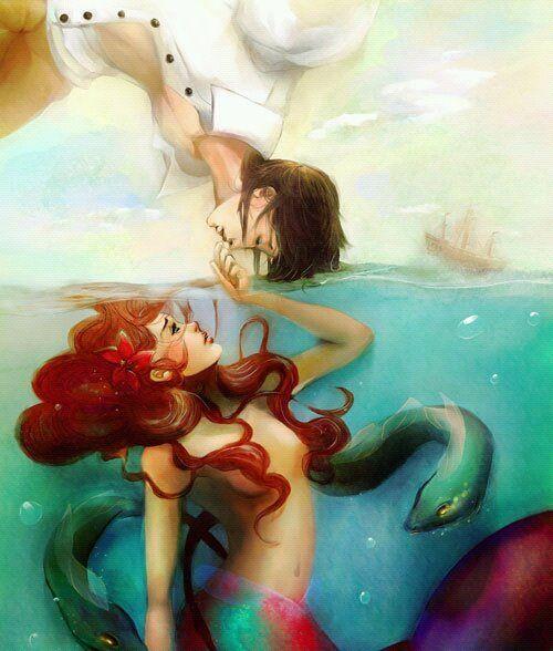 Ariel: Disney Movies, Disney Princesses, Mermaidart, Disney Art, A Tattoo, Fans Art, Mermaids Art, Prince Charms, The Little Mermaids
