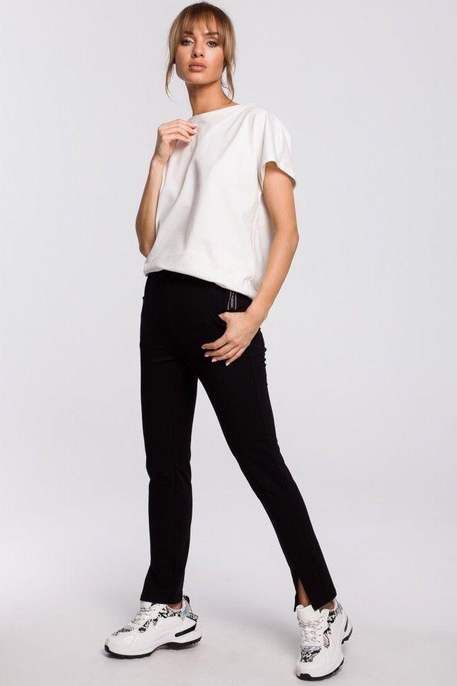 Spodnie Z Rozporkami Czarne Fashion Normcore Style