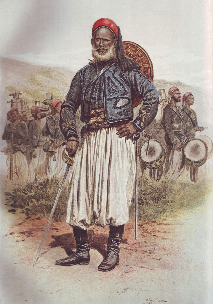 French Army 1900 Tirailleurs Indigens Officer by Édouard Detaille