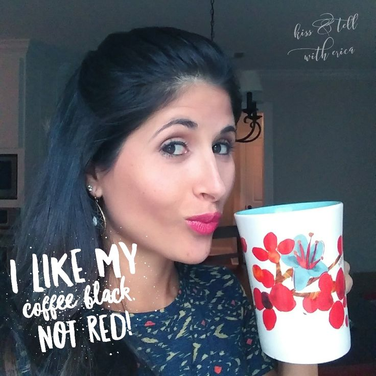 Lipsense not on coffee cup! long lasting lip color in Luv It 2x, Strawberry Shortcake 1x. Kiss and Tell with Erica (distributor ID 370429)