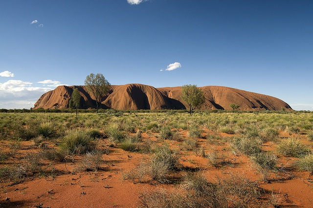 Ayers Rock, in the middle of Australia
