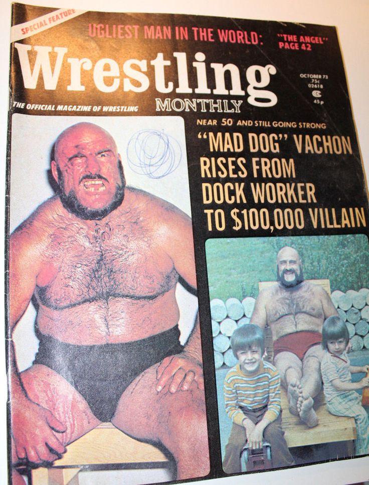 1973 Wrestling Monthly Magazine October Mad Dog Vachon Bruno Sammartino