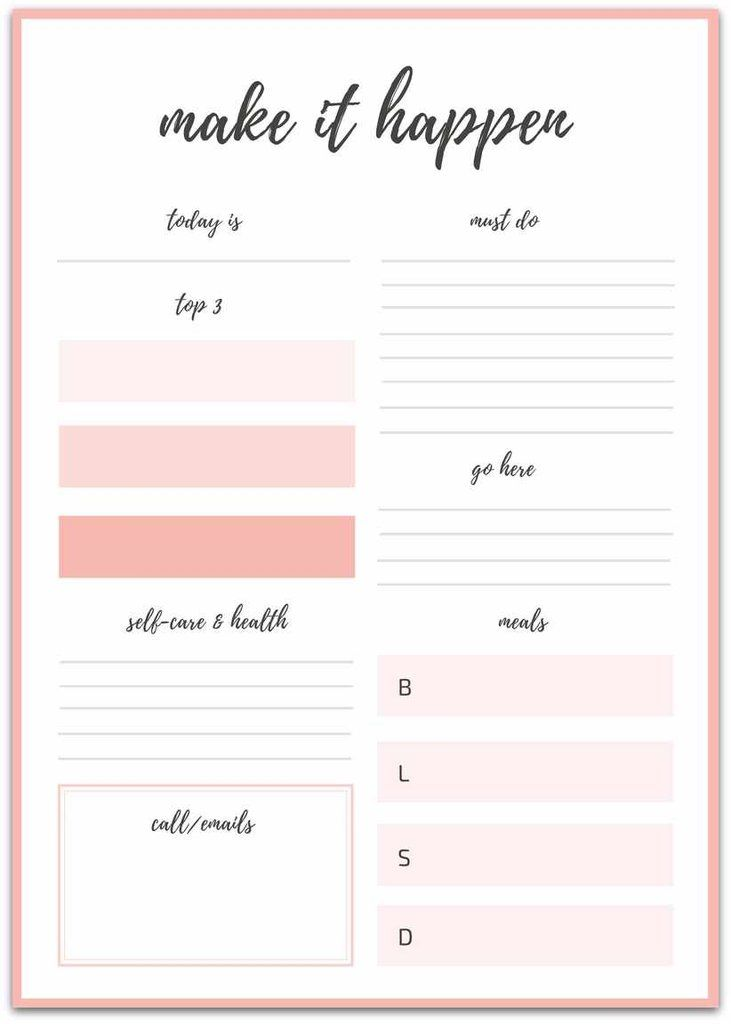 16 printable goal sheets to help you stay on track this