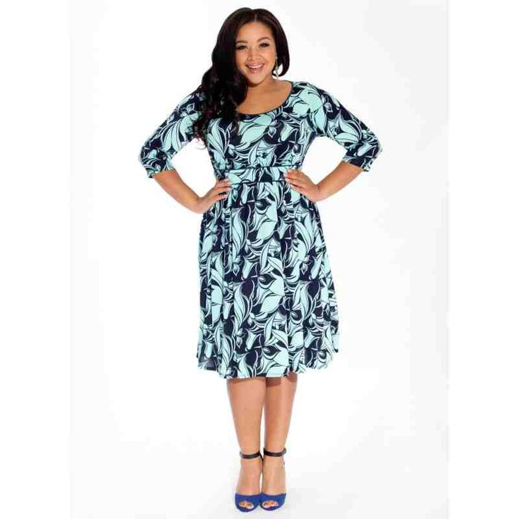 PRE-ORDER - Corina Plus Size Dress in Aqua Tropics $165.00 http://www.curvyclothing.com.au/index.php?route=product/product&path=95_96&product_id=8450