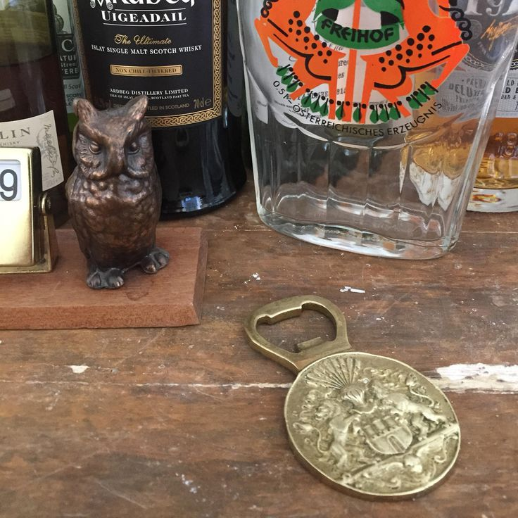 Vintage/brass/Bottle Opener/Crest/ of Arms/English/Lions by WifinpoofVintage on Etsy
