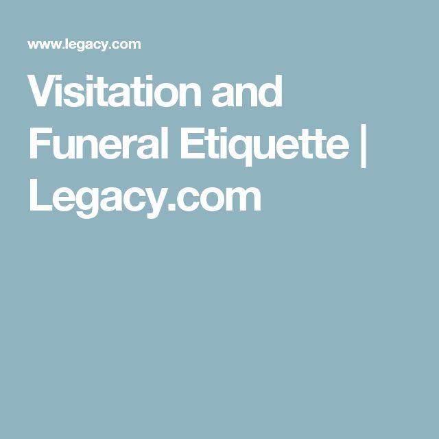 25 Best Ideas About Funeral Etiquette On Pinterest