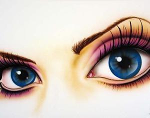 Paintings Of Beautiful Women With Big Eyes By Scott Rohlfs - PelFind