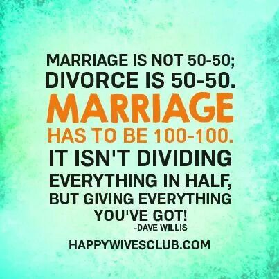 Marriage is not 50/50