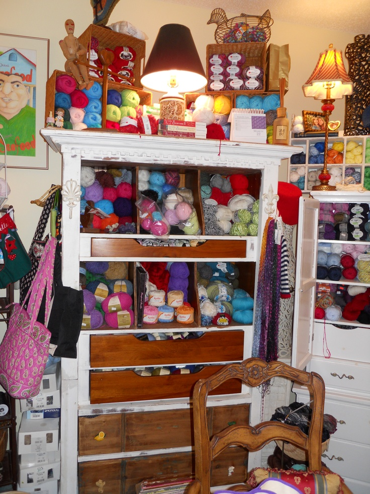 Knitting Supplies Storage Ideas : Best images about my knitting room on pinterest trees