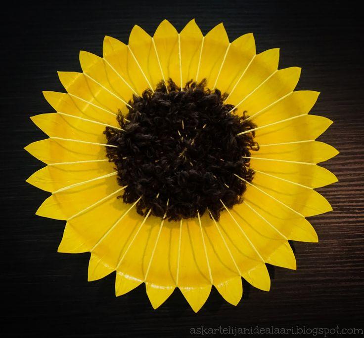 Askartelijan idealaari: Auringonkukka paperilautasesta