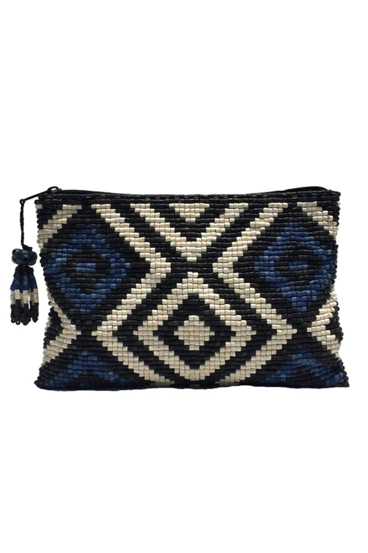 Santa Maria Ceramic Beaded Clutch