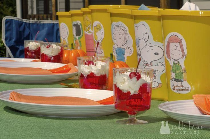 A Charlie Brown Thanksgiving Party by Double the Fun Parties
