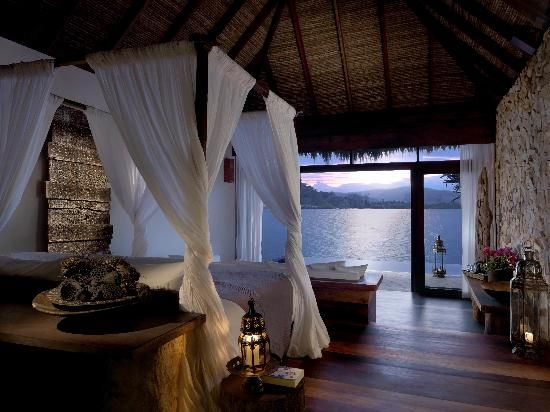 Song Saa Private Island: Wake up with the sunrise in your four-poster bed.