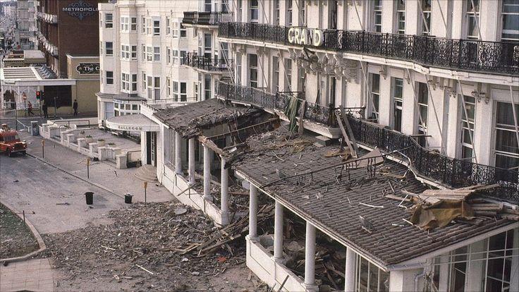 Em 1984, Thatcher sobreviveu a um ataque do IRA (Exército Republicano Irlandês) na cidade de Brighton (sul da Inglaterra) onde ela estava hospedada durante uma conferência do Partido Conservador. A explosão deixou cinco mortos. Foto: BBC