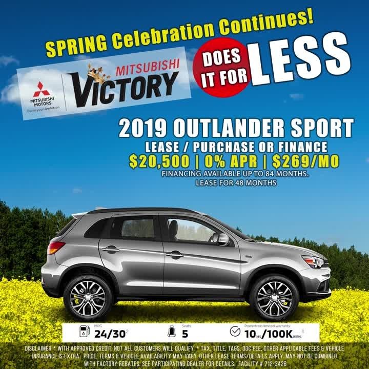 2019 Mitsubishi Outlander Sport Available In All Colors At Great Prices Only At Victory Mitsu Mitsubishi Outlander Sport Outlander Sport Mitsubishi Outlander