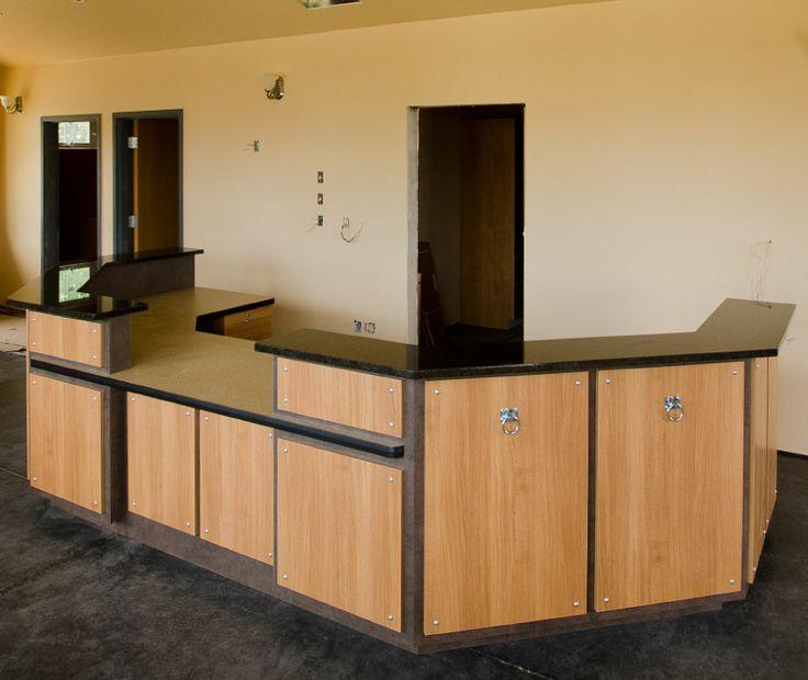 front desk receptionist designs desk custom desk commercial reception desk - Custom Desk Design