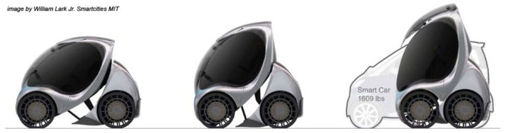 This fully-electric car looks sharp and can fold to be more compact.   Architizer