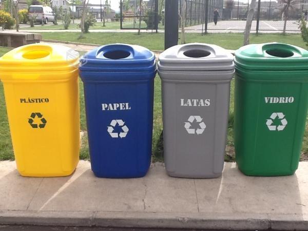 Contenedores de reciclaje de 12 lts ventas@ecosas.cl