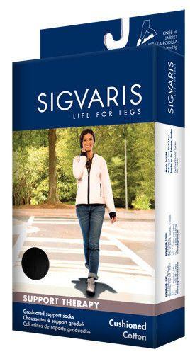 SIGVARIS 142C Cushioned Cotton Knee-Hi Compression Socks 15-20mmHg | eBay