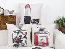 Fantasia Perfume batom charme mulheres Glamour clássico Emoji travesseiro massageador almofadas decorativas caso Euro decoração beleza(China (Mainland))