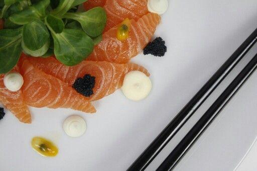 My sashimi with passionfruit, yum!