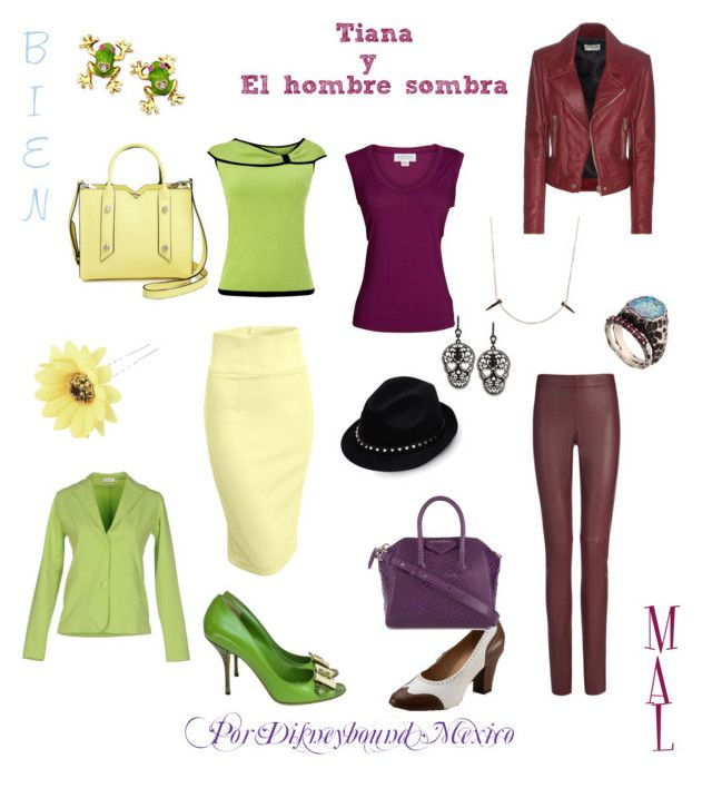 """""""Tiana y el hombre sombra (Good vs Evil)"""" by disneybound-mexico on Polyvore featuring Joseph, Velvet by Graham & Spencer, Balenciaga, Valentino, Skyler Man, Voodoo Jewels, Givenchy, Betsey Johnson, LE3NO and Precis Petite"""