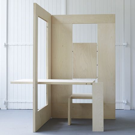 I have no idea what need there is for a folding workstation, especially one that looks profoundly uncomfortable. Still, it's a fun idea that might spawn an idea or two. Design firm Kapteinbolt expl...