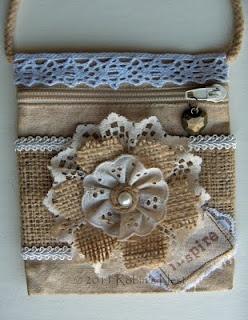Another burlap & lace flower