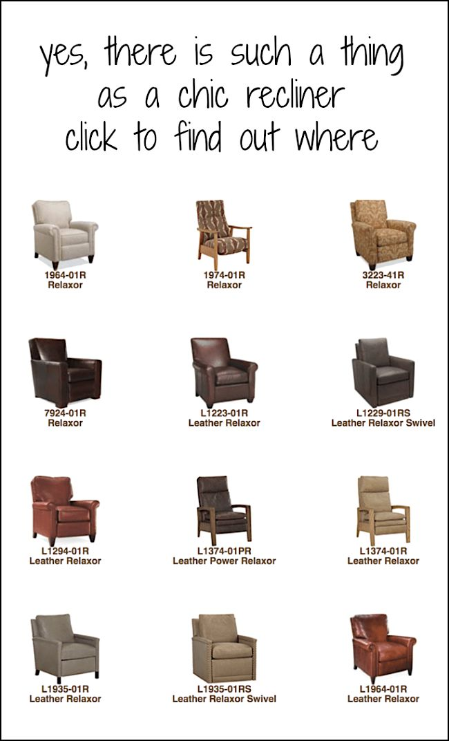 9 Favorite Home Furnishings Sources I Can't Live Without - laurel home - without doubt THE best source for recliners - motion, whatever you want to call them. Abominations? ;] Not these. These are chic, stylish and you'd never know that they're reclining chairs.