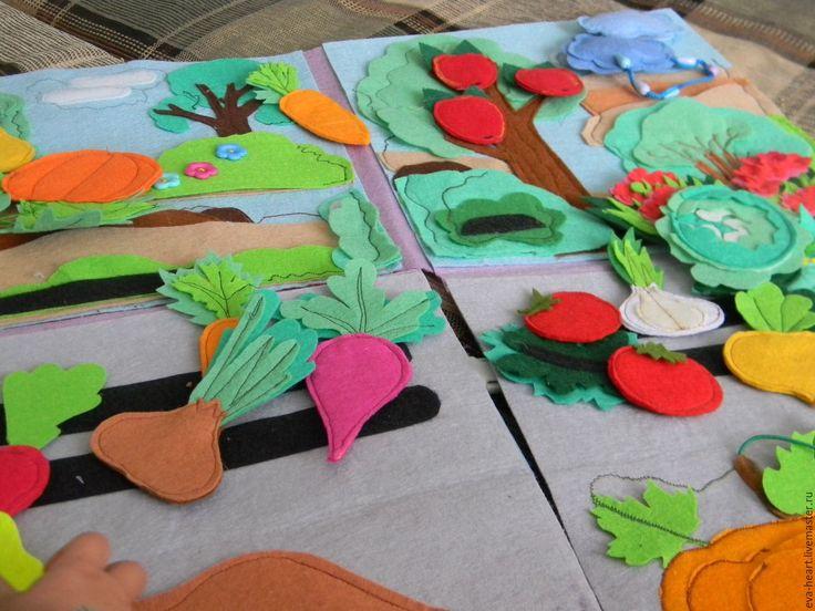 """Купить Развивающий коврик """"ОГОРОДИК"""" - комбинированный, огород, сад, развивающая игрушка, развивающий коврик"""