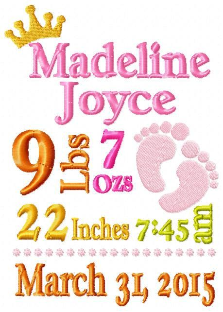 Best 25 Girl birth announcements ideas – Personalized Birth Announcement