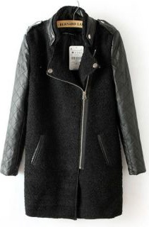 Quilted Sleeve Moto Coat