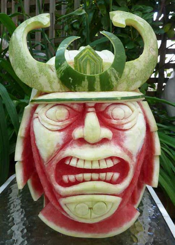 Best Fruit Sculpture Images On Pinterest Fruit Sculptures - Incredible sculptures carved watermelon