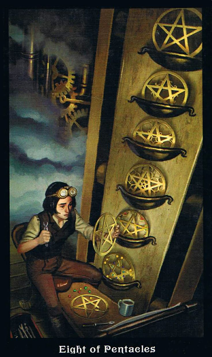 8 Of Hillary Clinton S Most Well Known New York Magazine: The Eight Of Pentacles - Steampunk Tarot