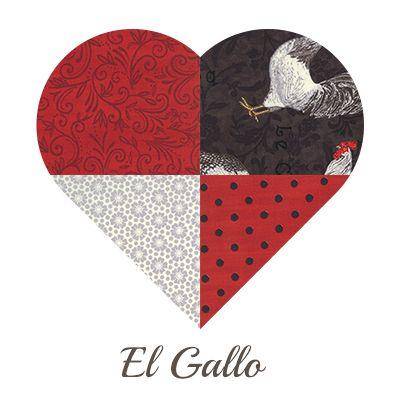 Yosonline Quiltstoffen / Quilt Fabrics - El Gallo