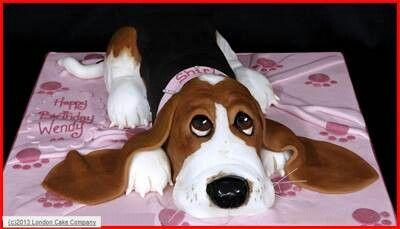 Basset hound cake... luv it