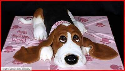 Basset hound cake... luv it