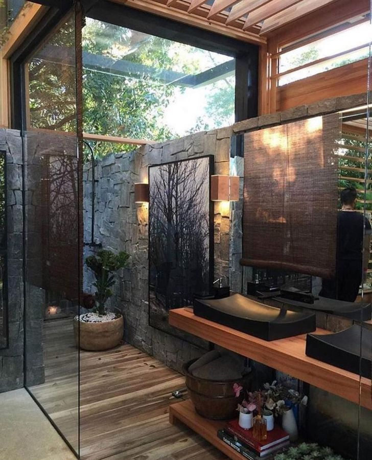 33 Extraordinary Outdoor Bathroom Designs For Relax And Enjoyable