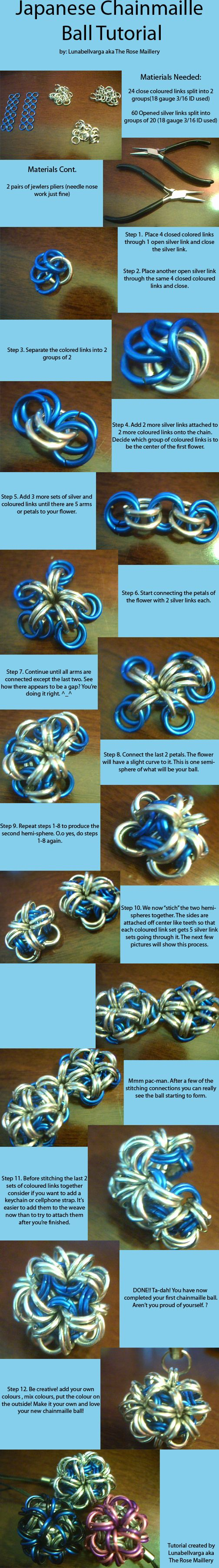 Chainmaille Ball Tutorial by ~lunabellvarga on deviantART