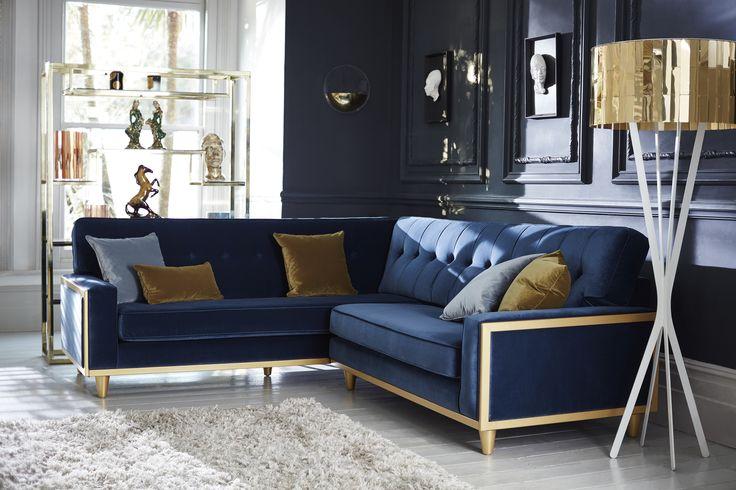 The Fifty Nine corner collection #GPlan #vintage #velvets #interiors #interiordesign #retro