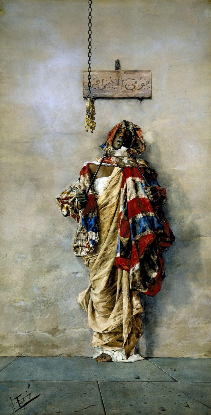 Antonio Maria Fabrés y Costa ( 1854–1938 ). Un Ladrón. 1887. Watercolor. 138 x 73 cm. Museo del Prado, Madrid.