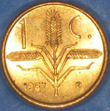 Un Centavo de 1967 (Espigas de Trigo) México.