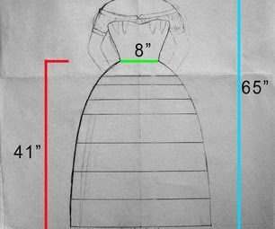 how to make a hoop skirt with boning