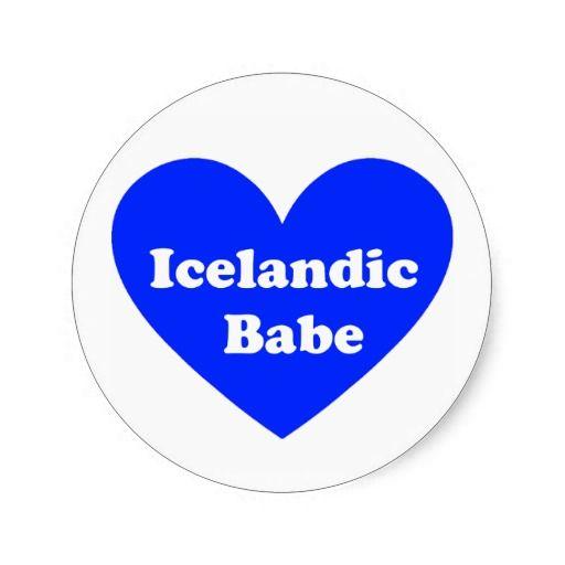 Iceland girl sticker