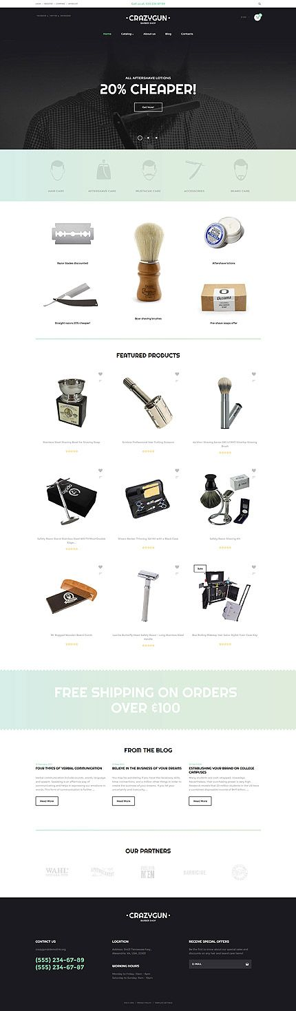 Barber's Online Store #Virtuemart #template. #themes #business #responsive