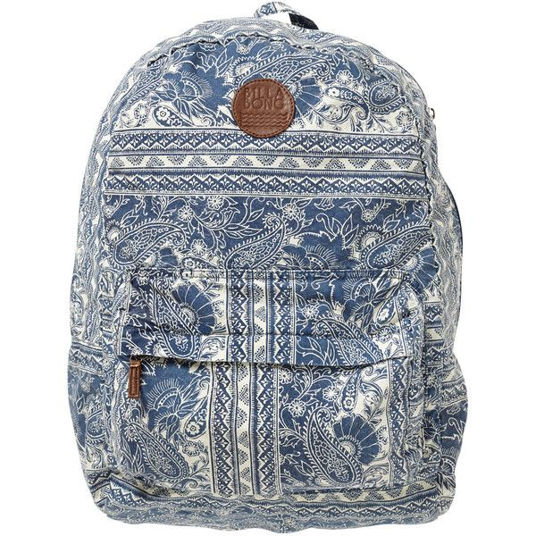 Billabong Women's Hand Over Love Backpack ($20) ❤ liked on Polyvore featuring bags, backpacks, accessories, blue moon, blue bag, blue backpack, billabong, billabong backpacks and rucksack bag