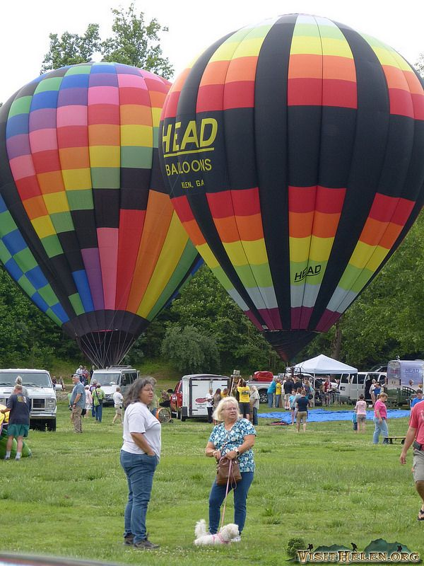 Helen, GA 41st Annual Hot Air Balloon Race to the Atlantic. (unfortunately takeoff was postponed until later in the day due to weather!) June 5, 2014