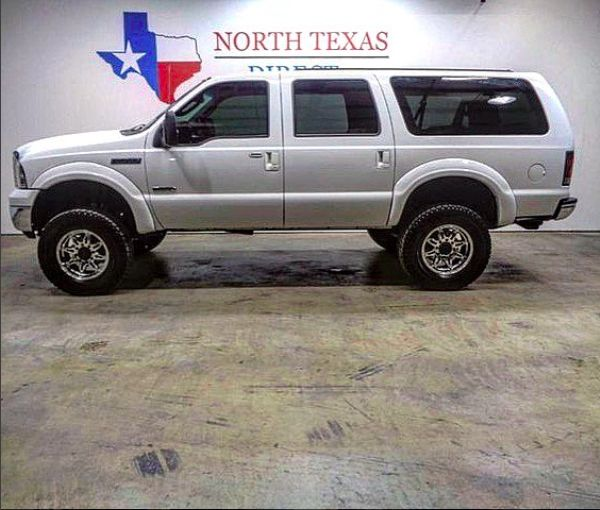 2005 Ford Excursion 6.0 Powerstroke Diesel fully bulletproofed with programmer, lift kit, and new leather interior