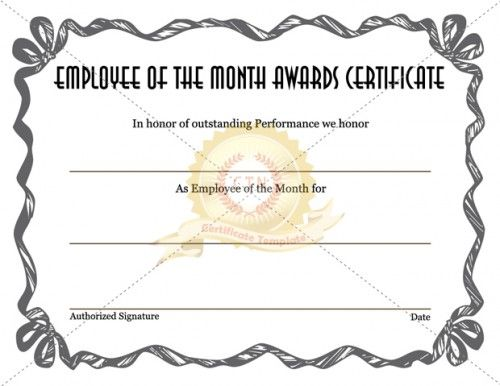 55 best award certificate template images on pinterest for Certificate of employee of the month template